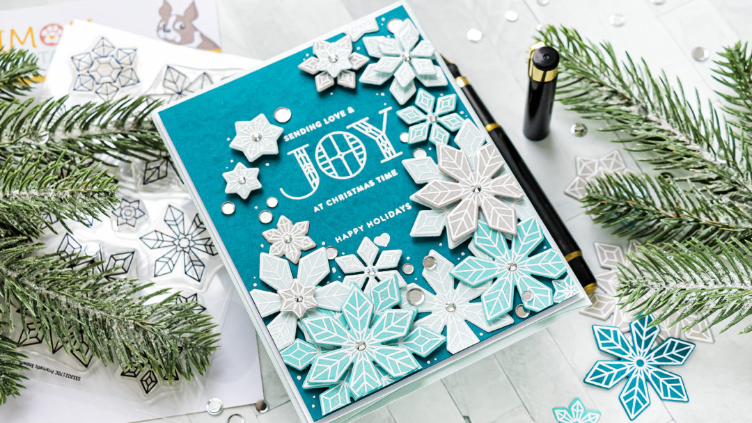 Simon Says Stamp DIECember | Snowflake Blizzard Christmas Card featuring PRISMATIC SNOWFLAKES sss302170c and PRISMATIC SNOWFLAKES Wafer Dies sssd112191c
