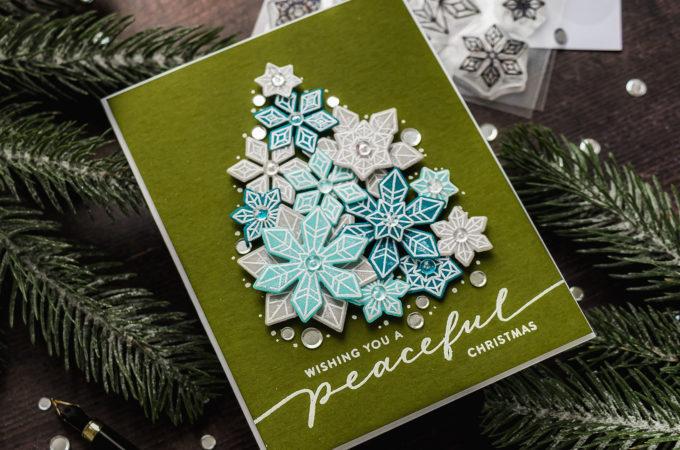 Simon Says Stamp | Stretch Your Stash - Snowflake Christmas Tree Card. Video