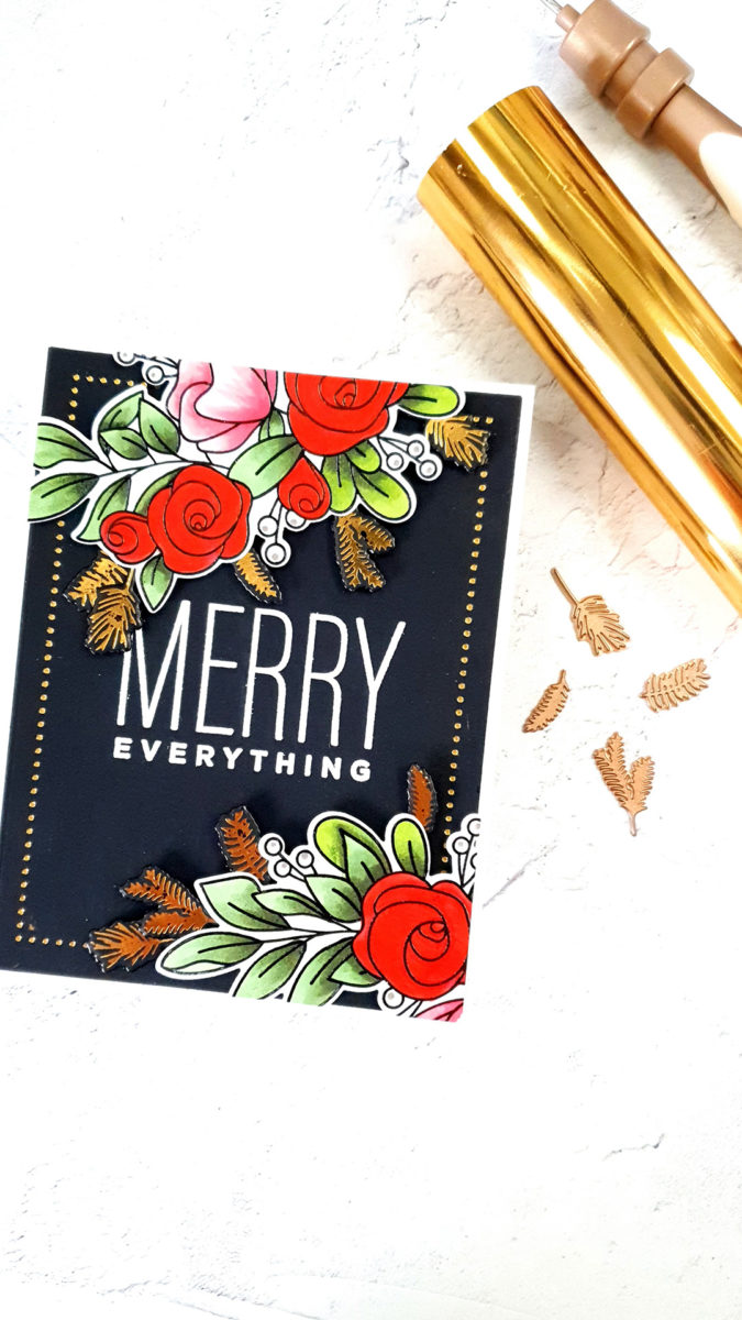 Simon Says Stamp | Merry Everything Christmas Card with Non Holiday Florals featuring YOU HAVE MY HEART sss202250c #simonsaysstamp #cardmaking #stamping #christmascard