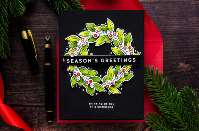 Simon Says Stamp   Love You Release - Season's Greetings Christmas Card with Valentine's Day Products