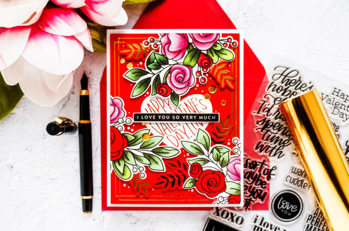 Simon Says Stamp | Stamped & Foiled Valentine's Day Card | Video