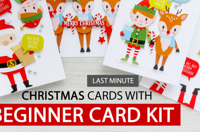 Super Easy Interactive Last-Minute Christmas Cards with This Beginner Card Kit. Unboxing, overview & tutorial