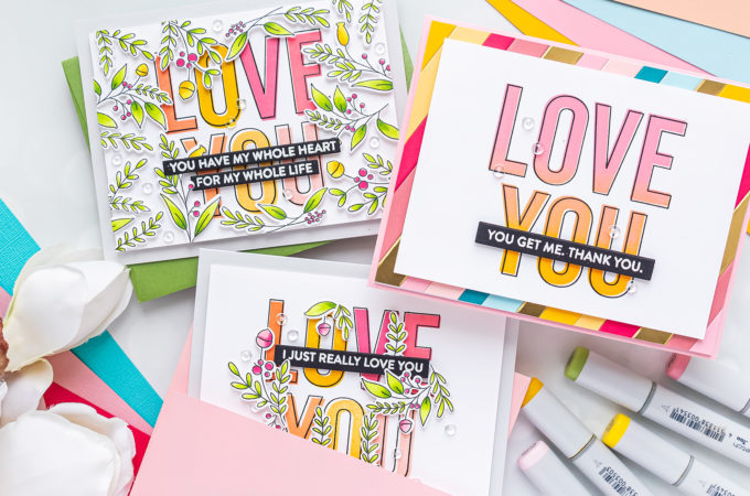 MFT Stamps | Love You Big Time 3 Ways | Video