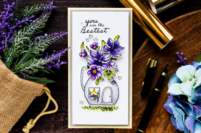 Simon Says Stamp | The Mini Slimline Magnolia Cottage Card