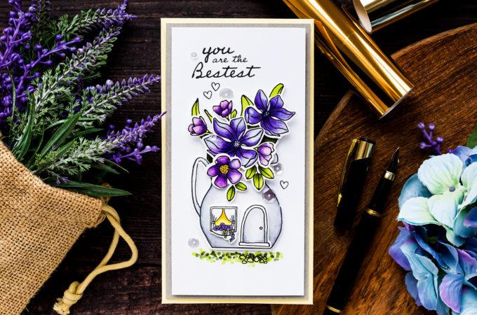 Simon Says Stamp | The Mini Slimline Magnolia Cottage Card