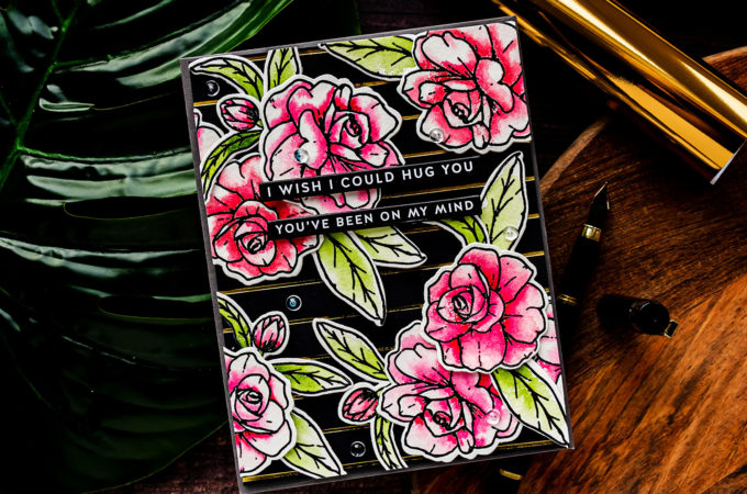 It's Been Ages Since I've Watercolored - Watercolor Floral Card with Simon Says Stamp SWEET FRIEND sss302274c Stamp Set #cardmaking #simonsaysstamp