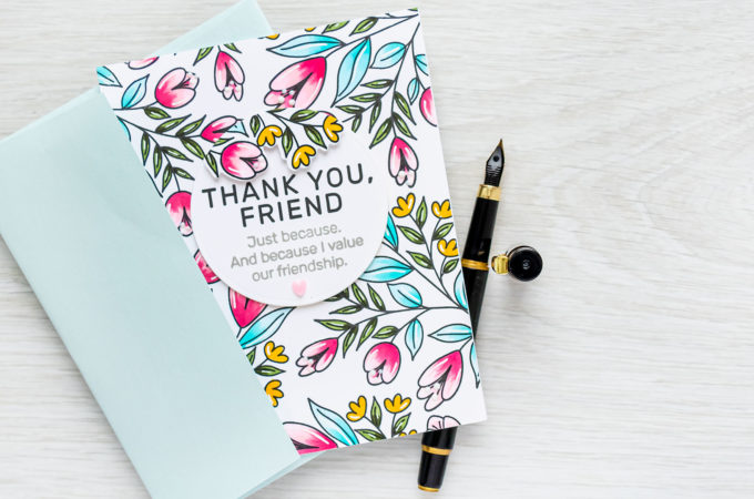 Simon Says Stamp | Floral Pattern Friendship Card | Video tutorial featuring BEST FRIEND EVER sss202280c #simonsaysstamp #cardmaking