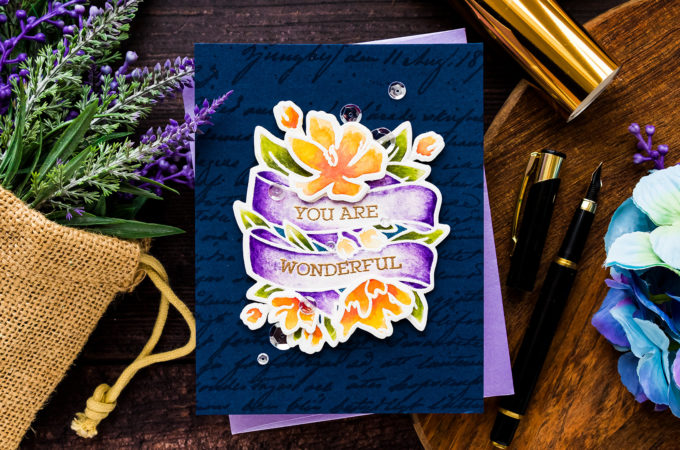 Simon Says Stamp | Watercolor Wonderful Banner