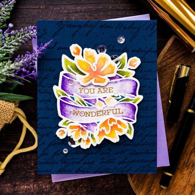 Simon Says Stamp | Watercolor Wonderful Banner
