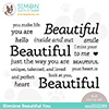 Simon Says Clear Stamps Slimline Beautiful You