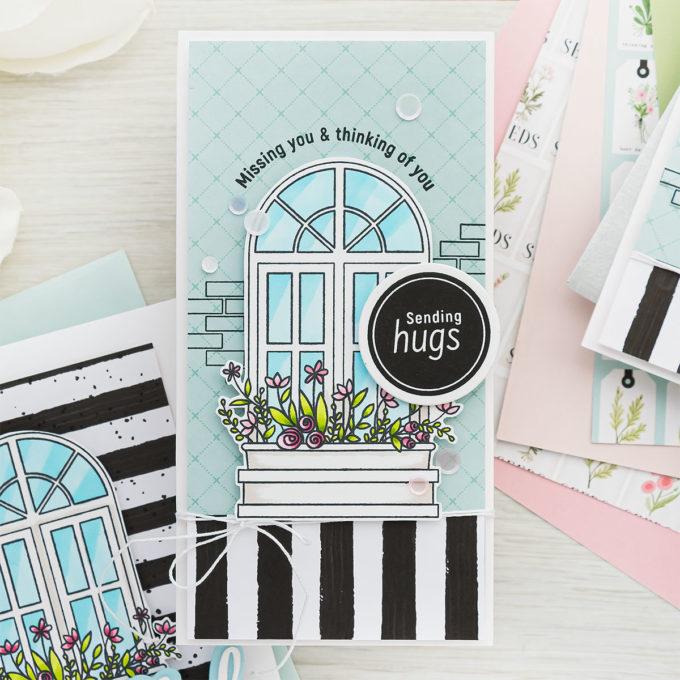 Simon Says Stamp | March 2021 Card Kit SPRING WINDOWS ck0321 #sssck #simonsaysstamp #cardmaking Handmade cards by Yana Smakula
