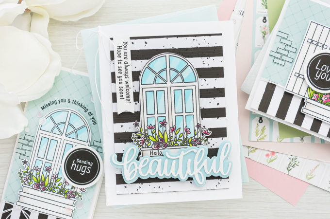 Simon Says Stamp | March 2021 Card Kit SPRING WINDOWS ck0321 #sssck #simonsaysstamp #cardmaking Handmade cards by Yana Smakula