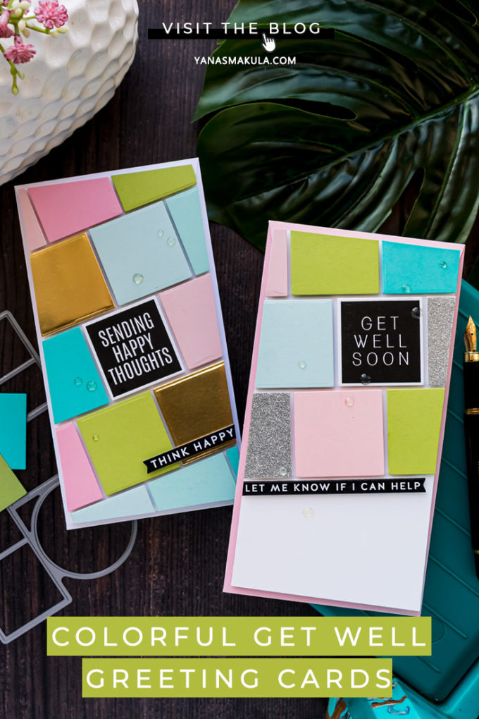 Simon Says Stamp | Colorful Get Well Greeting Cards by Yana Smakula featuring JUST BECAUSE WORD MIX 2 sss202098 #simonsaysstamp #cardmaking #sssunitedwecraft