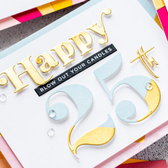 Spellbinders | Birthday & Anniversary Cards with February'20 LDOM Large Die of the Month | Video tutorial by Yana Smakula #Spellbinders #SpellbindersClubKits #NeverStopMaking #Cardmaking