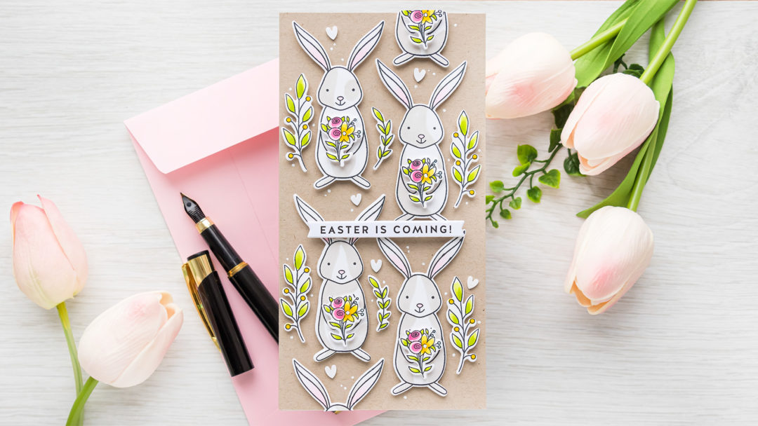 Simon Says Stamp | Easter Is Coming - Bunny Pattern Mini Slimline Card | Video