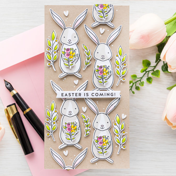 Simon Says Stamp   Easter Is Coming - Bunny Pattern Mini Slimline Card   Video