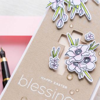 Simon Says Stamp | Happy Easter Blessings Mini Slimline Card