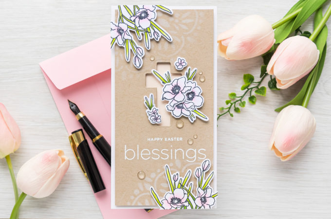 Simon Says Stamp | Happy Easter Blessings Mini Slimline Card