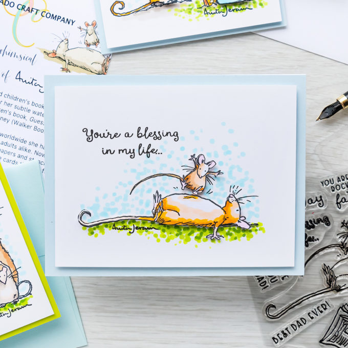 Colorado Craft Company | Simple Scene Cards with Anita Jeram Stamps & Copic Markers | Video