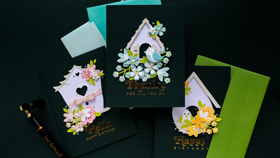 Modern Bß√irdhouses Cards with Vicky P. Birdhouses Through the Seasons Collection | Video