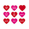 Spellbinders Snarky Hearts Glimmer Hot Foil Plate & Die Set
