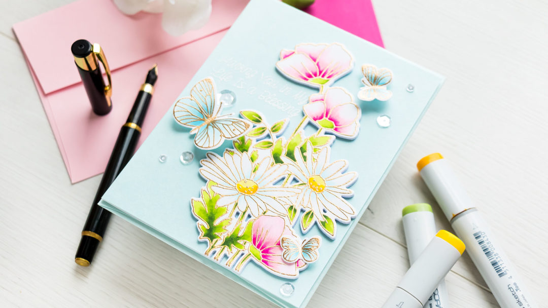 MFT Stamps | Faux Watercolor with Copic Markers | Video