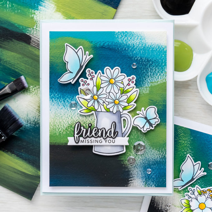 Abstract Dry Brush Backgrounds for Cards | Video