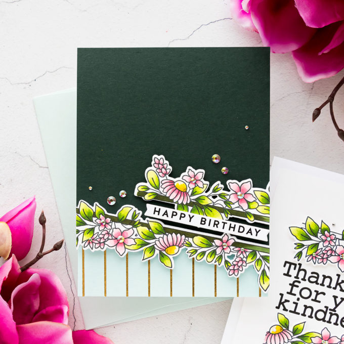 Simon Says Stamp | Slimline Florals on A2 Cards 4 Ways | Video