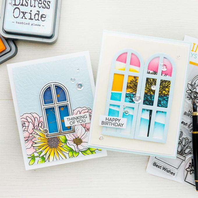 Simon Says Stamp | Day & Night Scene Window Cards | Video