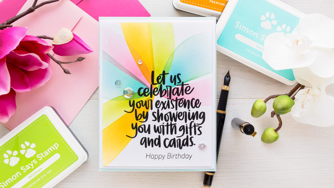 Simon Says Stamp | Ink Blended Birthday Madness Card