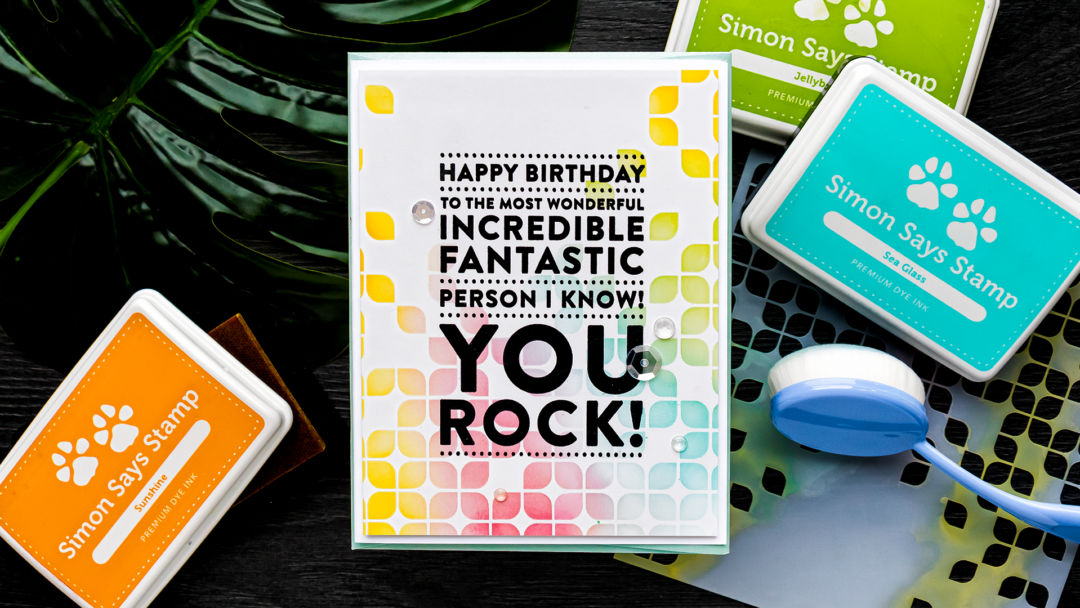 Simon Says Stamp | You Rock Birthday Card