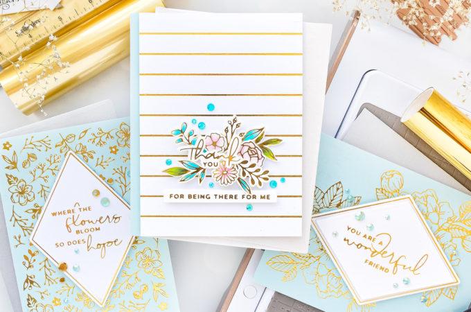 Spellbinders | Blooming Birthday - Foiled Birthday Card Ideas & More | Video