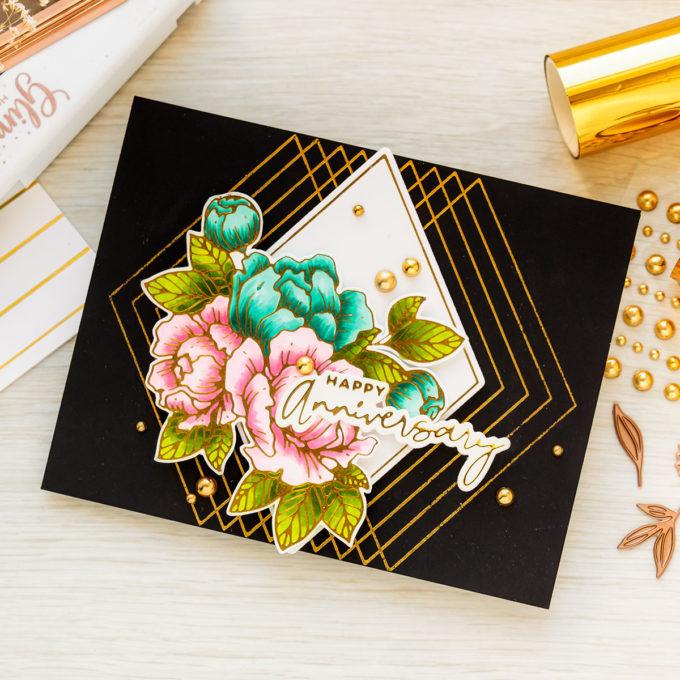 Spellbinders   Blooming Birthday - Foiled Birthday Card Ideas & More   Video