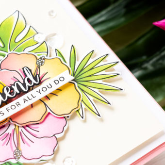 Pretty Pink Posh | Coloring with Stencils | Blog Hop + Giveaway | Video