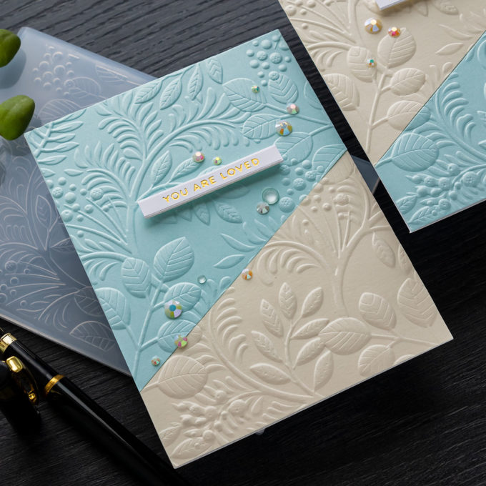 Simon Says Stamp | Deep Embossed Clean & Simple Cards + New Release