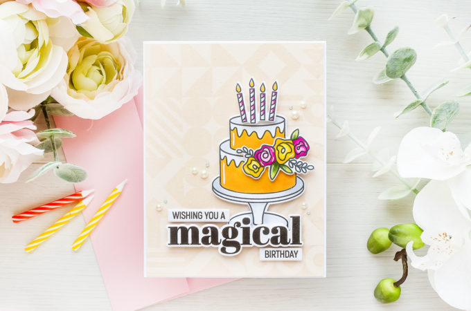 Simon Says Stamp | Magical Birthday Card featuring Simon Says Stamp DO WHAT IT CAKES sss202315c #simonsaysstamp #sssmakemagic