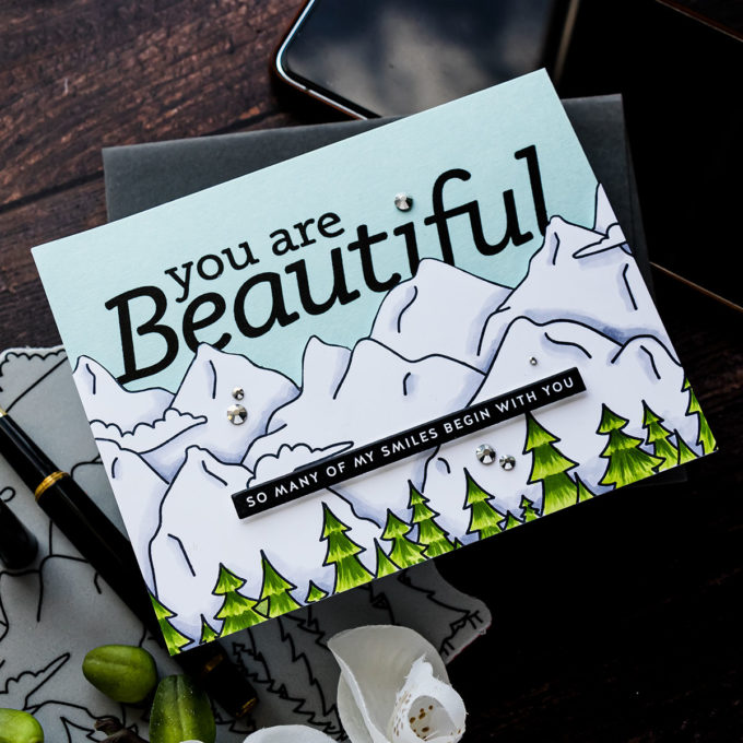 Simon Says Stamp | So Many of My Smiles Begin With You - Mountainscape Card
