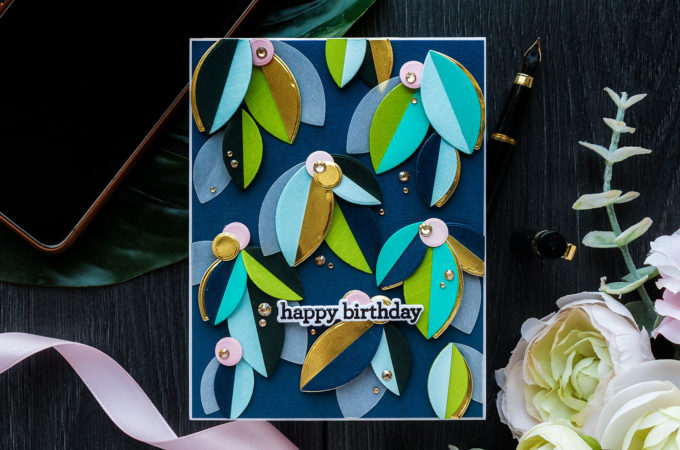 Simon Says Stamp | Abstract Lemon Tree Branches Birthday Card by Yana Smakula featuring PETAL POWER sss202335c #simonsaysstamp #cardmaking