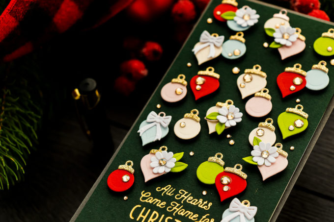 Spellbinders | It's a Christmas Season - Christmas Ornaments Mini Slimline Card