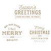 Spellbinders Essential Christmas Greetings Glimmer Hot Foil Plate