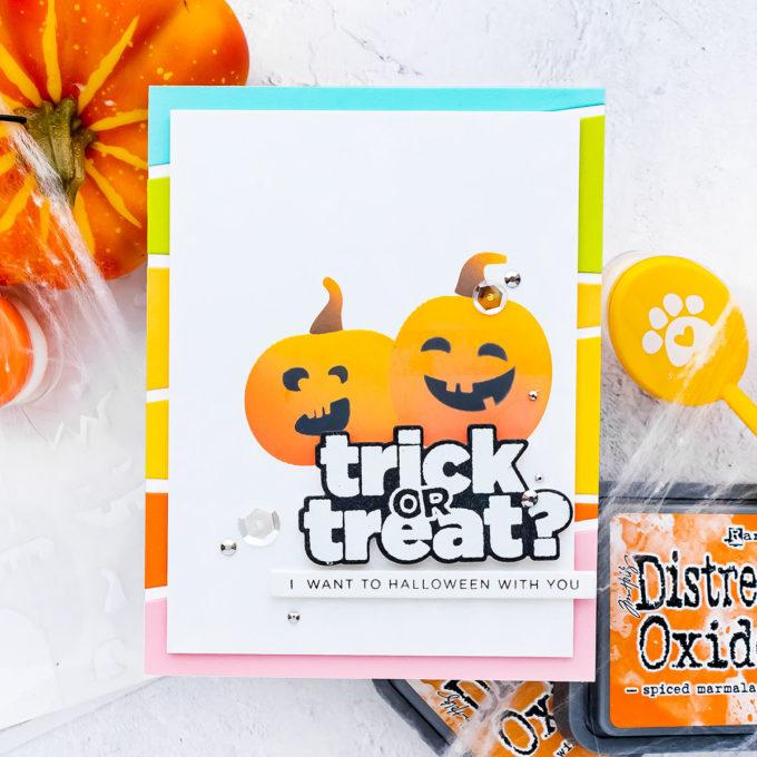 Simon Says Stamp | Trick or Treat? Halloween card by Yana Smakula