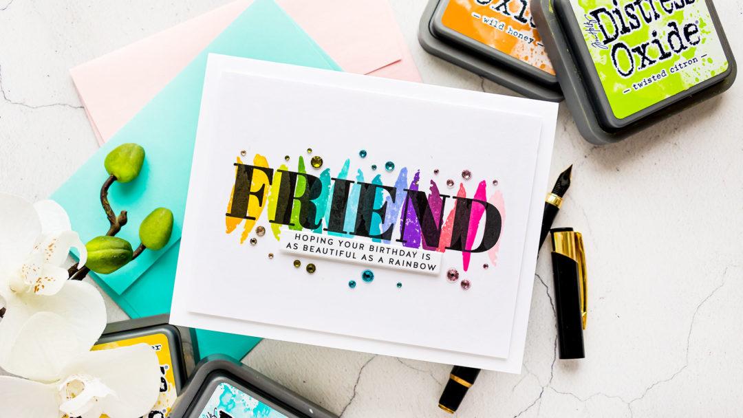 Simon Says Stamp | Minimalistic Stamping - Rainbow Friend
