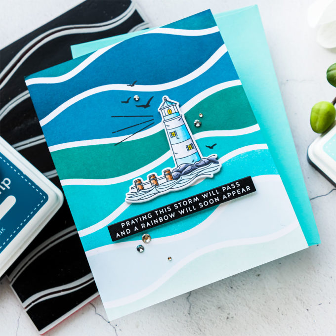 Simon Says Stamp   Stormy Sea Waves Builder Card. Video