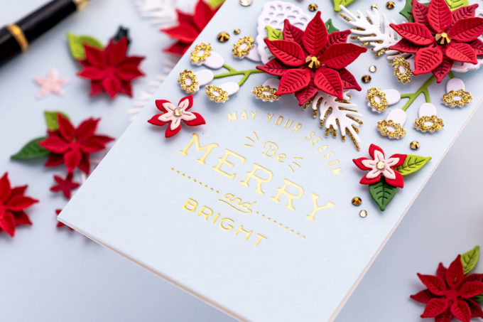 Spellbinders   It's a Christmas Season – Christmas Blooms Mini Slimline Card. Video