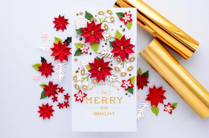 Spellbinders | It's a Christmas Season – Christmas Blooms Mini Slimline Card. Video