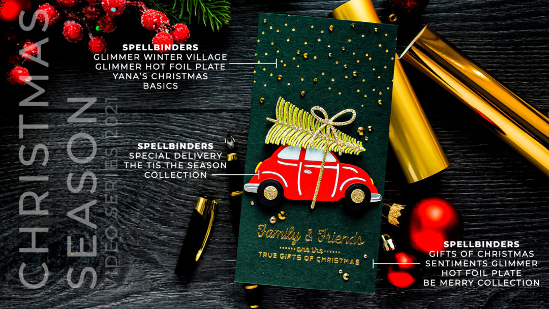 Spellbinders   It's a Christmas Season – Special Delivery Mini Slimline Card. Video