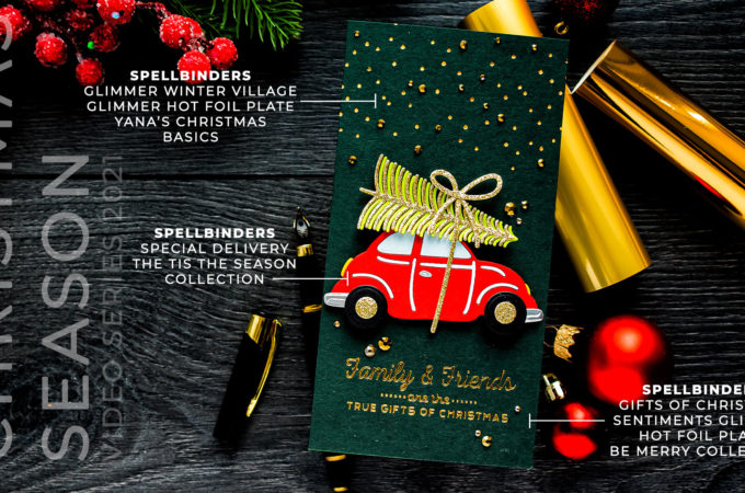 Spellbinders | It's a Christmas Season – Special Delivery Mini Slimline Card. Video