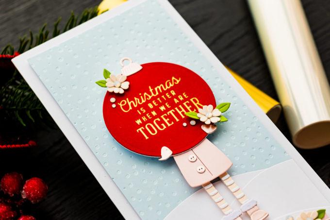 Spellbinders | It's a Christmas Season – Christmas Girl Slimline Card. Video | Blog Hop + Giveaway
