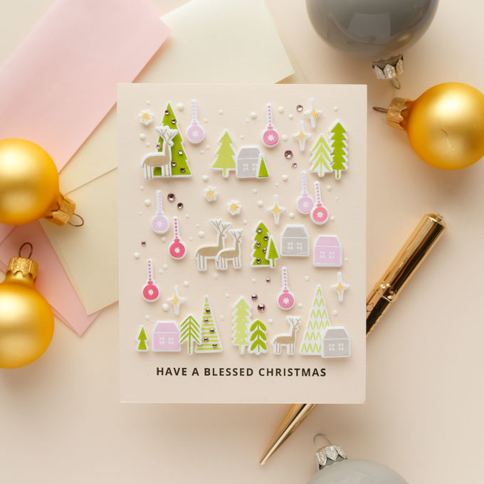 Iconic Christmas Cards with MFT Stamps | Video