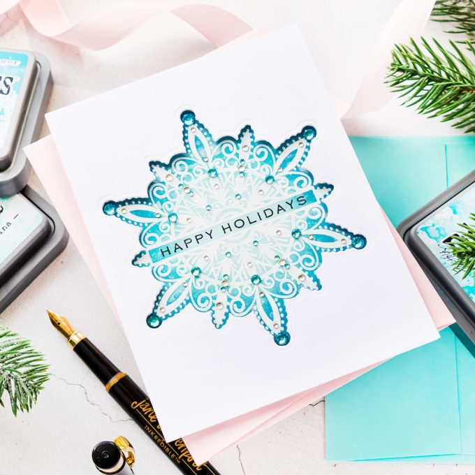 It's STAMPtember! Gina K Designs - Shimmering Snowflakes